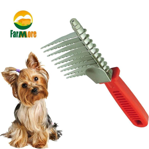 Dog Dematting Tool Open Knot Comb - Max and Maci's Store