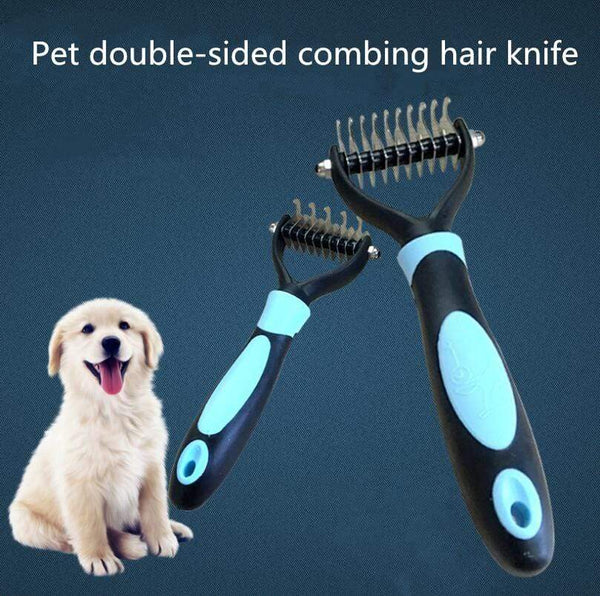 Dog Fur Knot Cutter Remove Rake Grooming - Max and Maci's Store