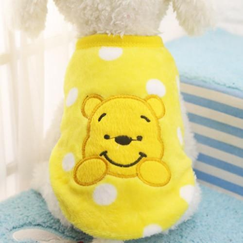 Fleece Dog Clothes Coat Jackets Cartoon - Max and Maci's Store
