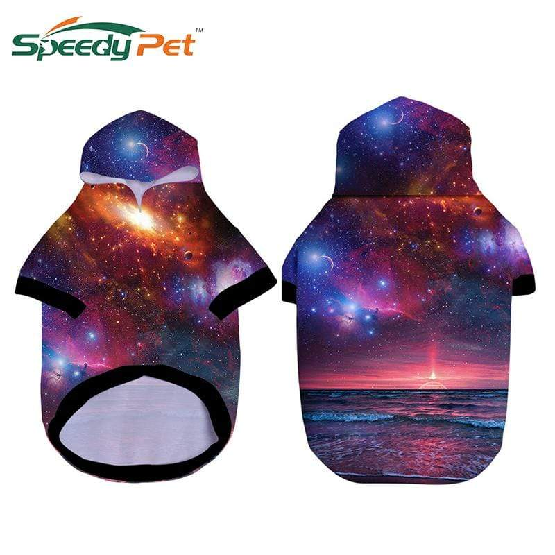 Max and Maci's Store Dog Hoodies 3D FunnyS tarry sky  Printed Dog Hoodies