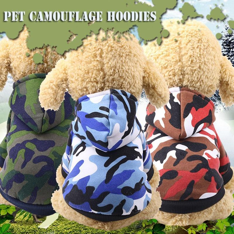 Max and Maci's Store Dog Hoodies Camouflage Cute Dog Winter Puppy Hoodies Pet Clothes