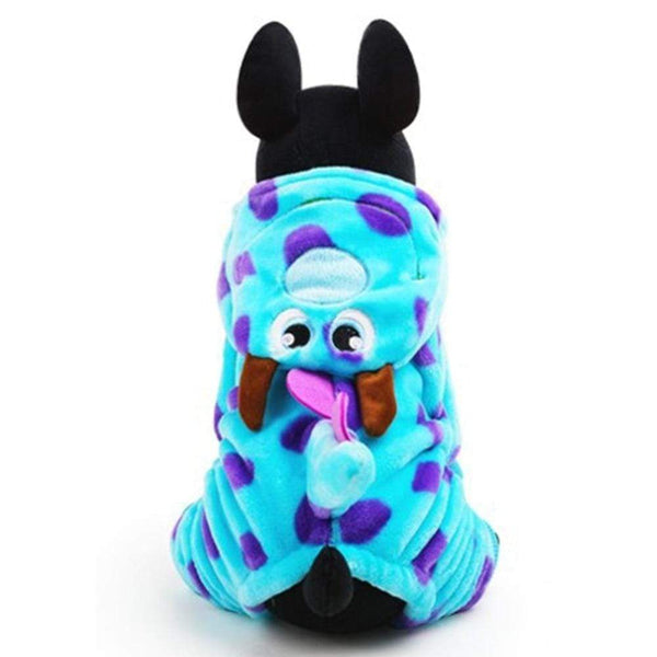 Dog Clothes Puppy Coat Warm Blue Outer Wear Hoodie - Max and Maci's Store