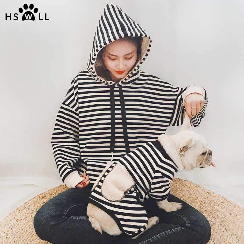 Max and Maci's Store Dog Hoodies Dog clothes puppy striped hooded