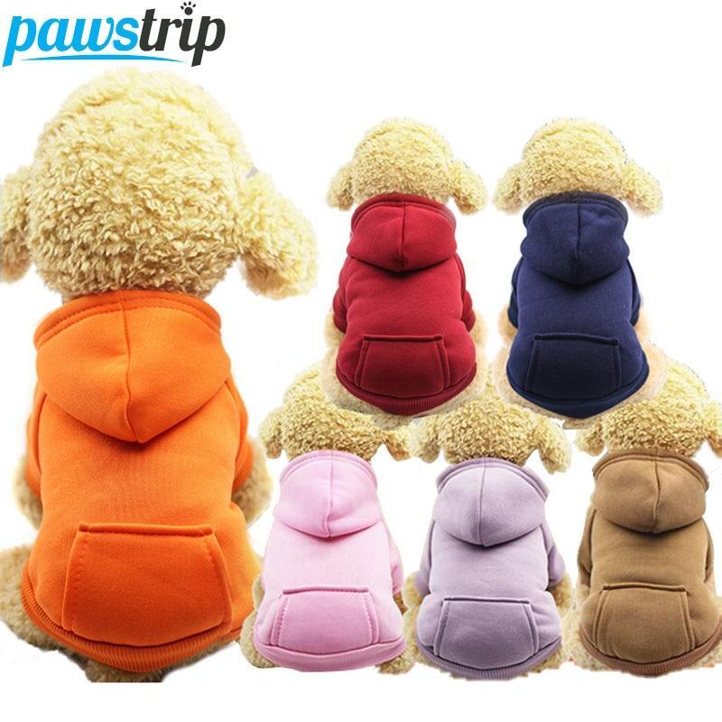 Max and Maci's Store Dog Hoodies Dog Hoodie Coat Soft Fleece Warm Puppy Clothes