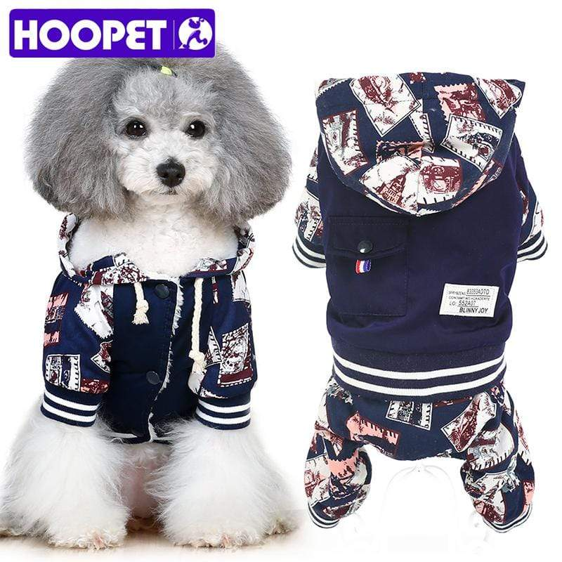 Max and Maci's Store Dog Hoodies Dog Hoodie Warm Cute Winter Stamp Printing Costumes