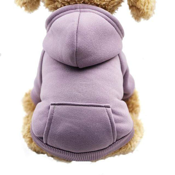 Dog Hoodie Coat Soft Fleece Warm Puppy Clothes - Max and Maci's Store