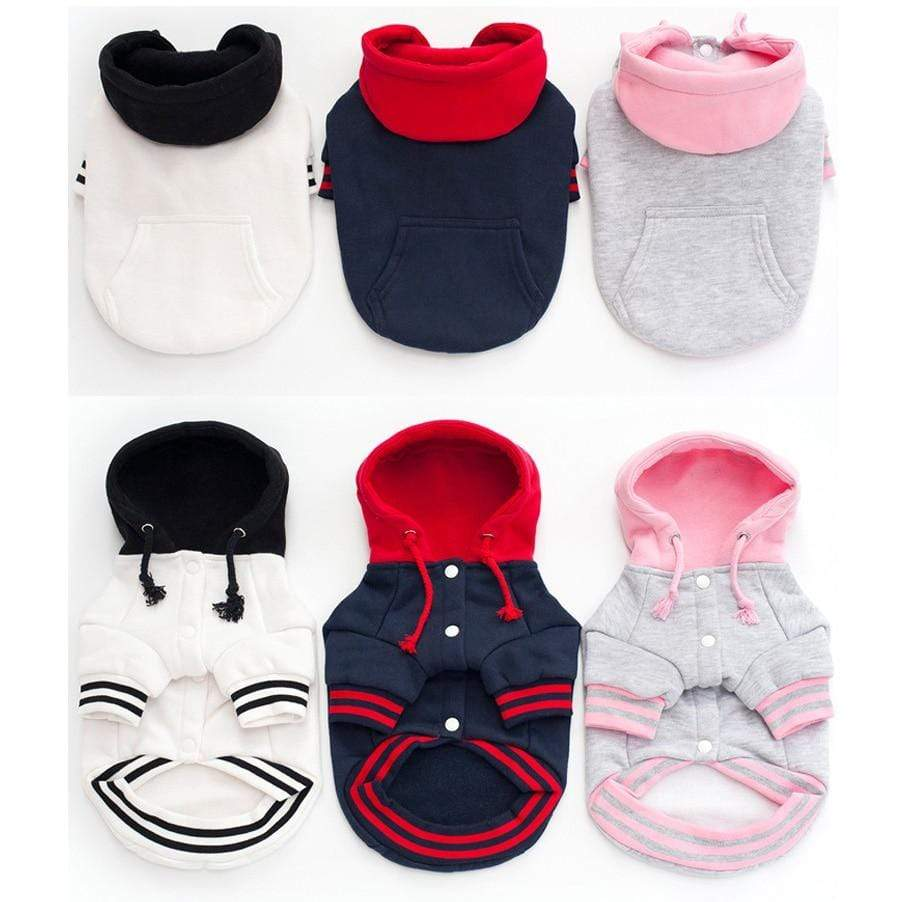 Max and Maci's Store Dog Hoodies Spring Autumn fashion Patchwork pocket button Leisure Dog Hoodies