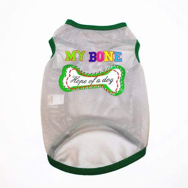 Dog Clothes Breathable Mesh Puppy Printed Shirts - Max and Maci's Store
