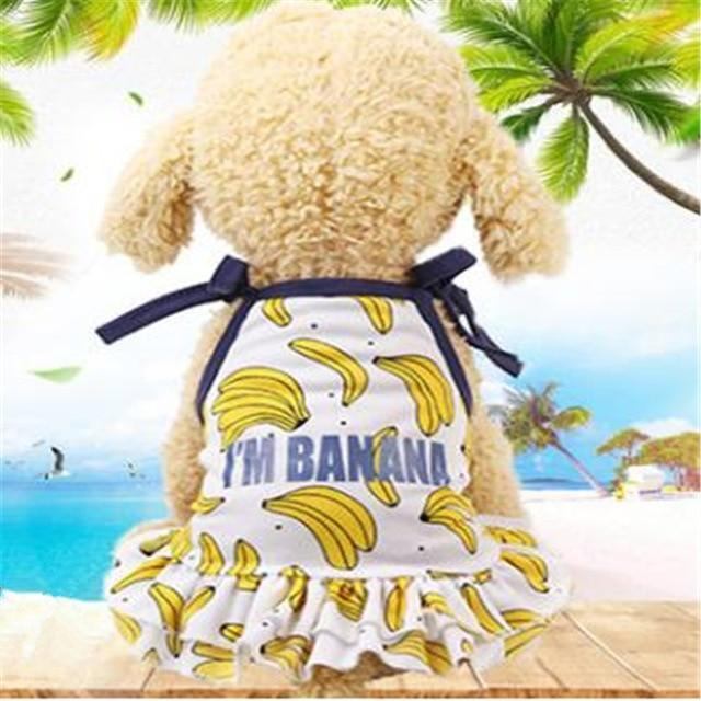 Max and Maci's Store Dog Shirts Banana Pineapple Strawberry Print Couple Dogs Clothes