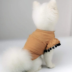 Max and Maci's Store Dog Shirts Breathable Simple Flying Sleeve Shirt