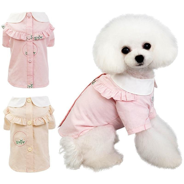 Max and Maci's Store Dog Shirts Cotton Summer Beach Vest Short Sleeve