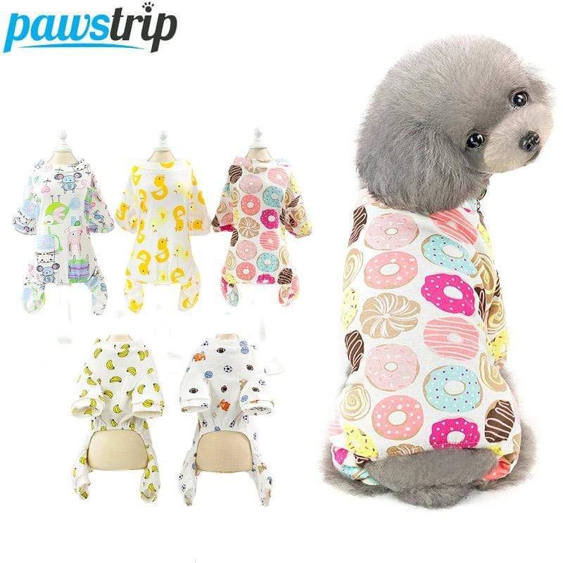 Max and Maci's Store Dog Shirts Cute Print Small Dog Jumpsuits
