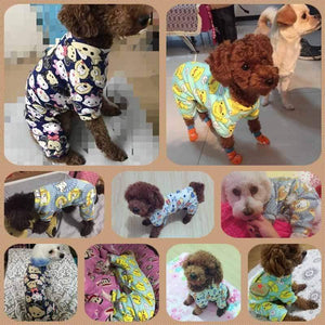 Max and Maci's Store Dog Shirts Cute Printed Pet Jumpsuit