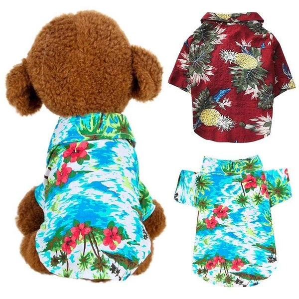 Dog Cat Shirts Cotton Summer Beach Clothes - Max and Maci's Store