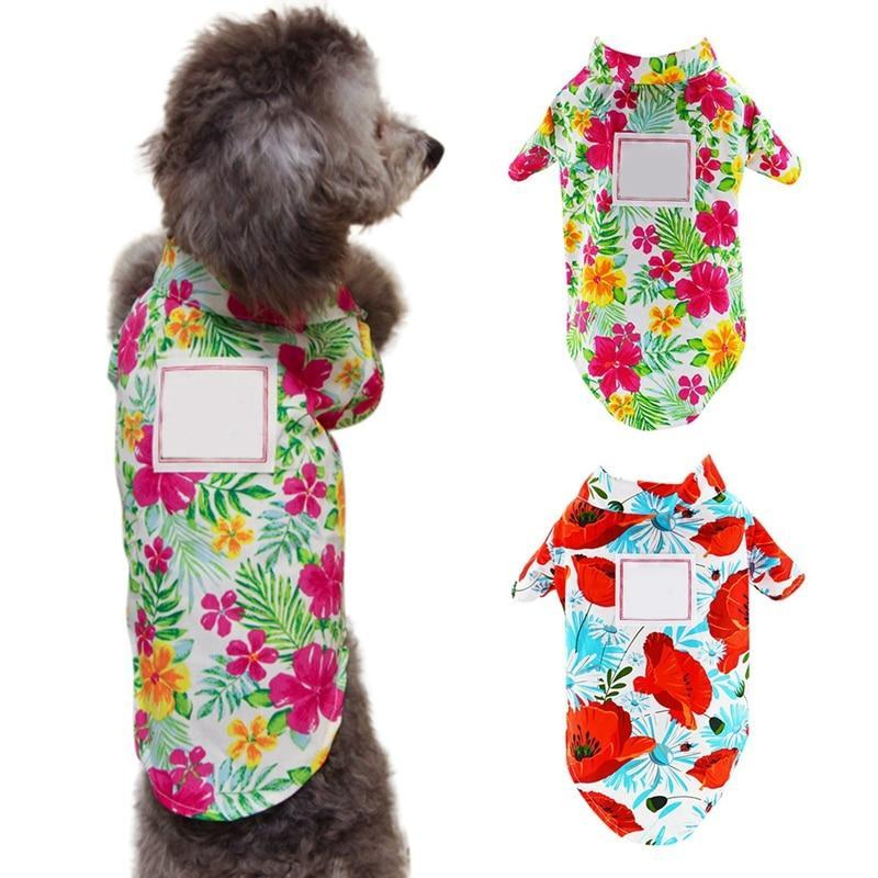Max and Maci's Store Dog Shirts Dog Clothes Hawaii Printing Shirt
