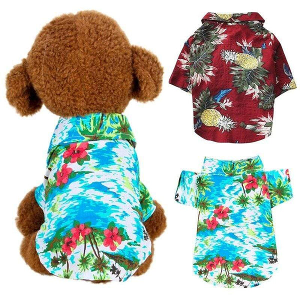 Dog Cute Print Hawaii Beach Casual Pet Travel Shirt - Max and Maci's Store