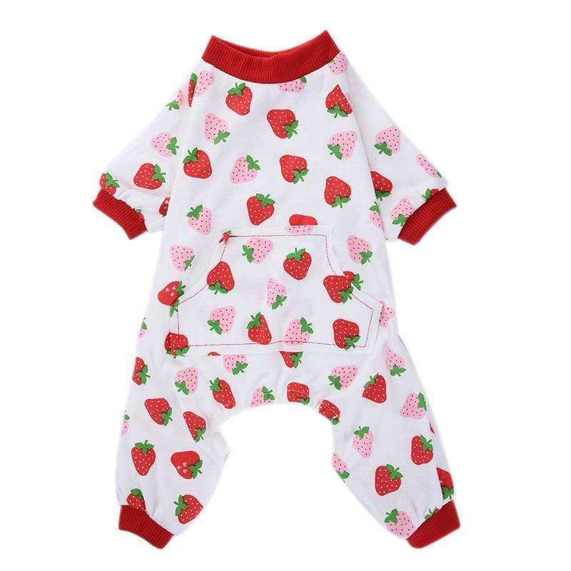 Max and Maci's Store Dog Shirts Dog Strawberry Pattern Cotton Pajamas