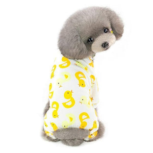 Max and Maci's Store Dog Shirts Duck / S Cute Print Small Dog Jumpsuits
