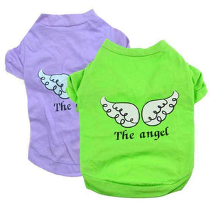 Max and Maci's Store Dog Shirts fashion Pet Angel Wings Cotton T-Shirt