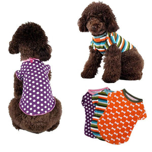 Max and Maci's Store Dog Shirts Fine Print Vest Dog Costumes