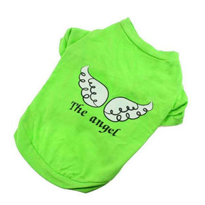 Max and Maci's Store Dog Shirts GREEN / L fashion Pet Angel Wings Cotton T-Shirt
