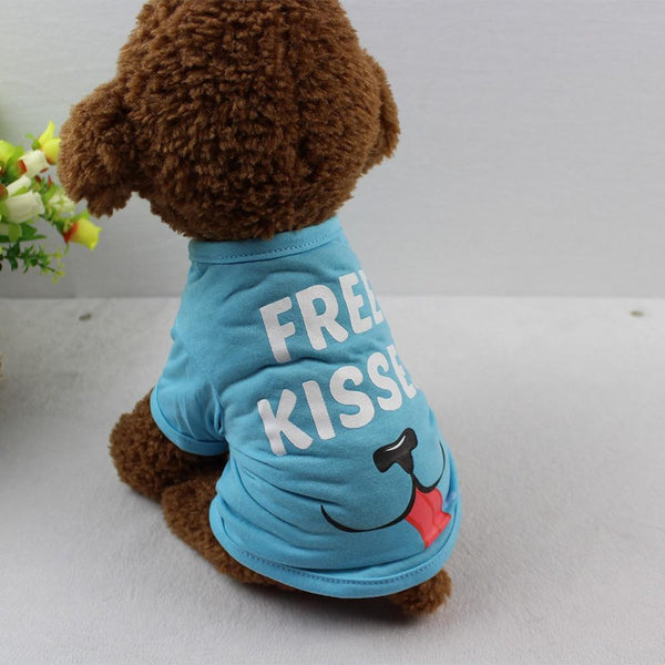 Kisses Pet Dog Polyester T-Shirt - Max and Maci's Store