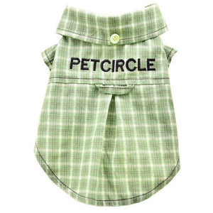 Max and Maci's Store Dog Shirts Light Green / L Lovely Home Dog Cat Plaid Clothing