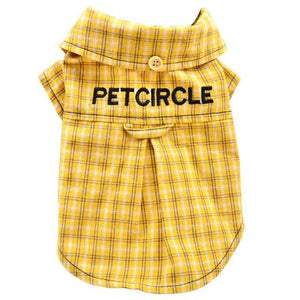 Max and Maci's Store Dog Shirts Light Yellow / L Lovely Home Dog Cat Plaid Clothing
