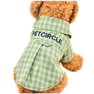Max and Maci's Store Dog Shirts Lovely Home Dog Cat Plaid Clothing