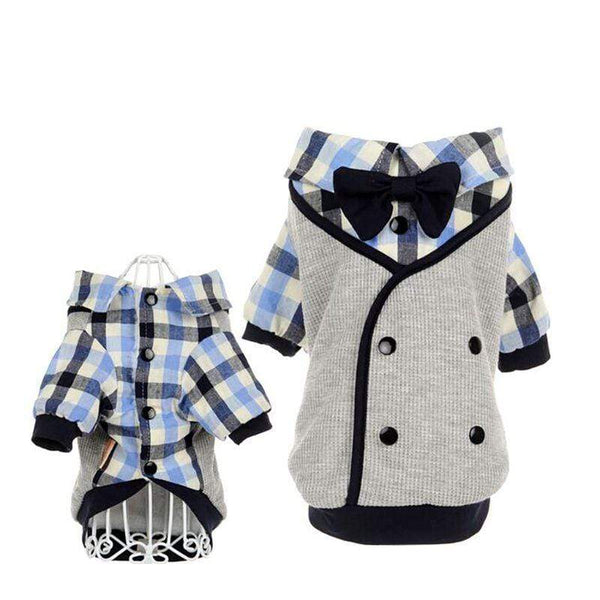 Lovely Pet Clothes Soft Casual Plaid Shirt - Max and Maci's Store
