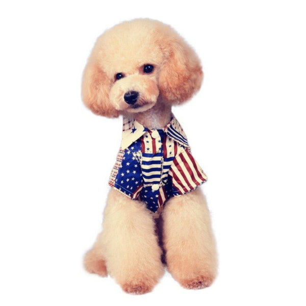 National Flag Pattern Pet Puppy Cotton Vest Shirts - Max and Maci's Store