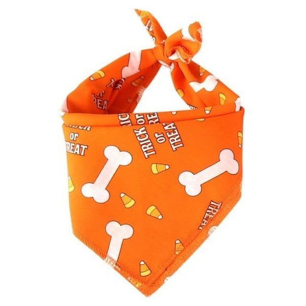 Max and Maci's Store Dog Shirts Orange bone / M Pattern Pet Bandana Scarf T-riangle Bibs