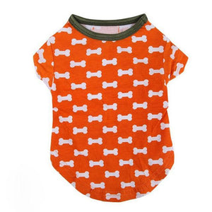 Max and Maci's Store Dog Shirts Orange / S Fine Print Vest Dog Costumes