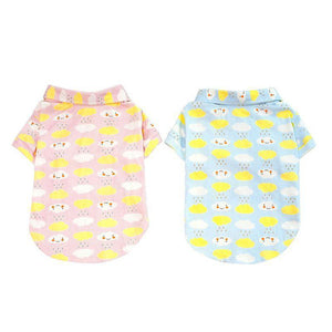 Max and Maci's Store Dog Shirts Pet Dog Vests Cloud Printed Clothes