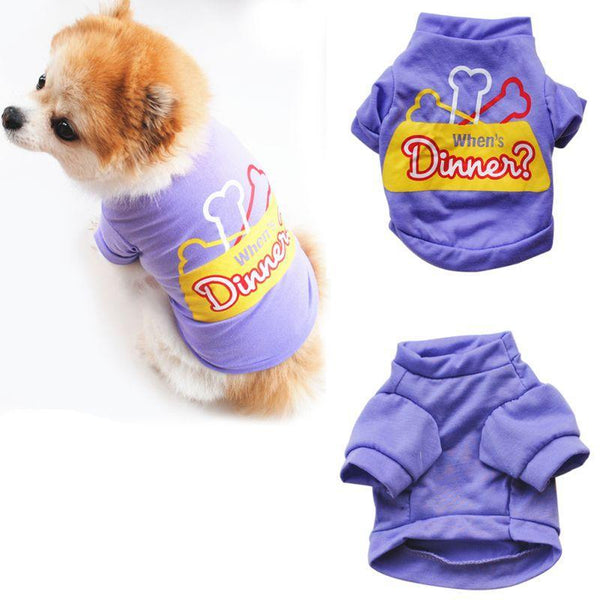 Pet Puppy Vest Summer Shirt Letter Printed - Max and Maci's Store