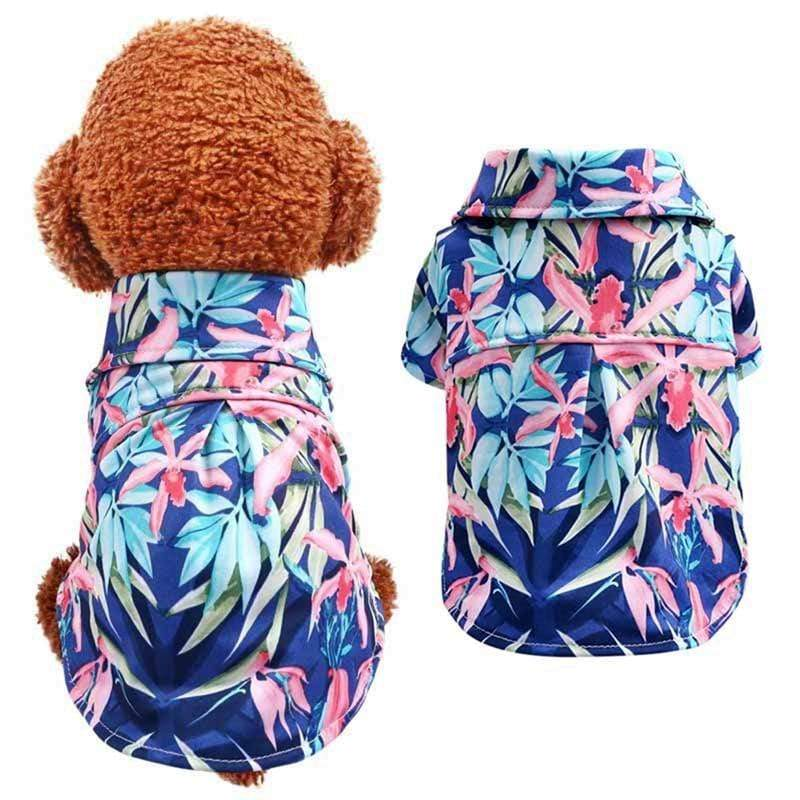 Max and Maci's Store Dog Shirts Pet Summer Floral Printed Shirts