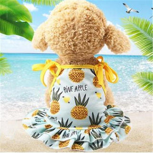 Max and Maci's Store Dog Shirts Pineapple  Dress / L Banana Pineapple Strawberry Print Couple Dogs Clothes