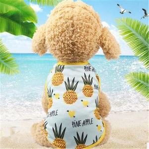 Max and Maci's Store Dog Shirts Pineapple  Vest / L Banana Pineapple Strawberry Print Couple Dogs Clothes