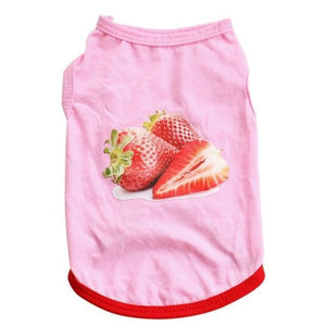Max and Maci's Store Dog Shirts Pink / L Pet Puppy Bikini Ice Cream Strawberry Printed T-Shirt