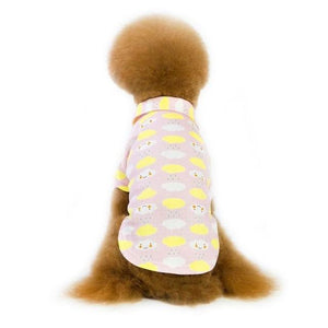 Max and Maci's Store Dog Shirts Pink / S Pet Dog Vests Cloud Printed Clothes
