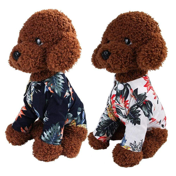 Printed Shirt Dog Thin Short Sleeve - Max and Maci's Store