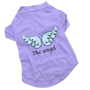 Max and Maci's Store Dog Shirts Purple / L fashion Pet Angel Wings Cotton T-Shirt