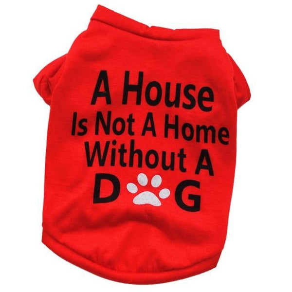 Max and Maci's Store Dog Shirts Red / L Pet Puppy Summer Shirt