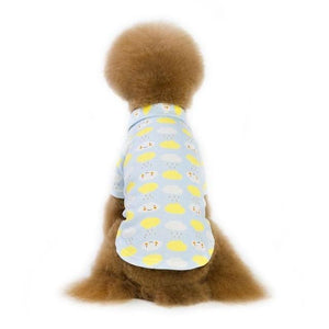 Max and Maci's Store Dog Shirts Sky blue / S Pet Dog Vests Cloud Printed Clothes