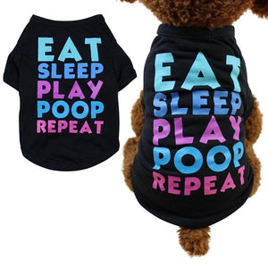 Max and Maci's Store Dog Shirts Spring Summer Dog Clothes Colorful Letters
