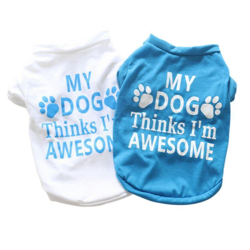 Max and Maci's Store Dog Shirts Spring Summer T-shirt Pet Print Short Sleeves