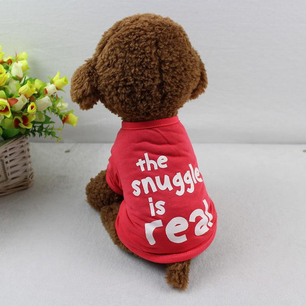 The Snuggle Is Real Pet Dog Polyester T-Shirt - Max and Maci's Store