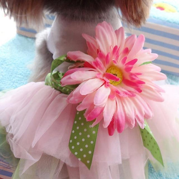 Fashion Flower Mesh Dog Tutu Dress Skirt - Max and Maci's Store