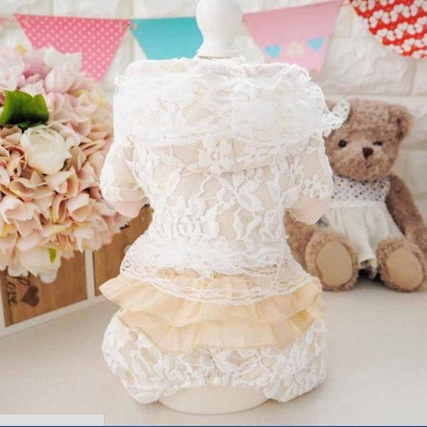 Dogs Wedding Dress Skirt Puppy Teddy Clothing - Max and Maci's Store