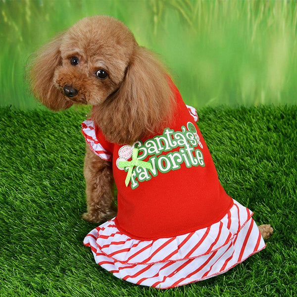 Cute Christmas Printed Dog Dress - Max and Maci's Store